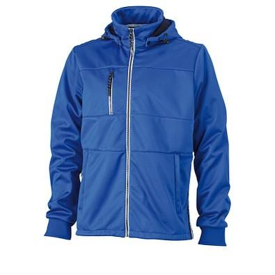 JAMES & NICHOLSON Herren Softshell-Jacke Maritime, blau/dunkelblau-weiß, XL