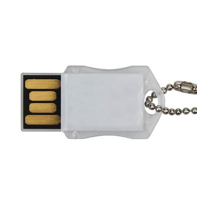 USB-Stick Transparent, 8 GB, weiß