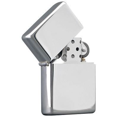 Benzin Sturmfeuerzeug Silver, Silber