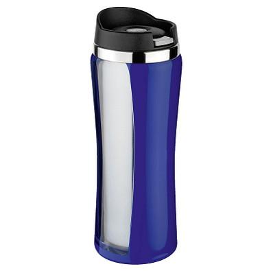 ISOSTEEL® Trinkbecher Colorline, 400 ml, blau/silber