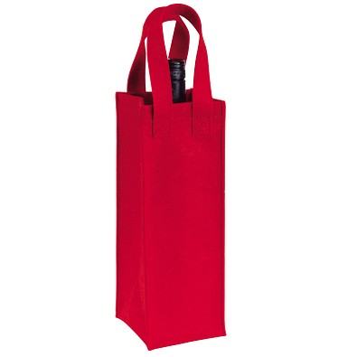 Flaschentasche aus Filz, rot