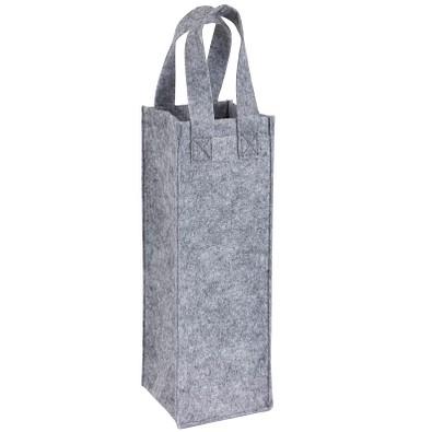 Flaschentasche aus Filz, grau