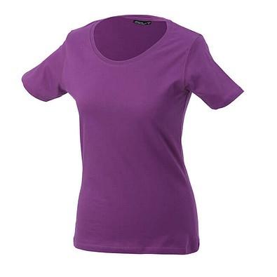 JAMES & NICHOLSON Damen T-Shirt, lila, XL