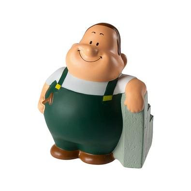 Herr Bert® Anti-Stress-Figuren Landschaftsgärtner Bert, grün
