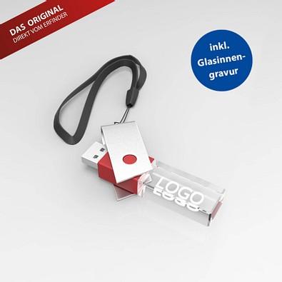 USB-Stick TURN 3D, 8 GB, rot