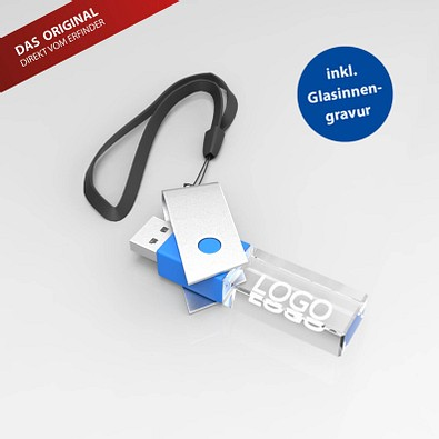 USB-Stick TURN 3D, 16 GB, blau