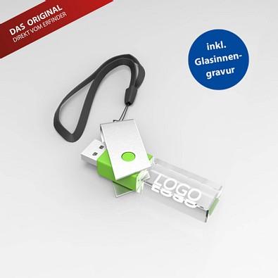 USB-Stick TURN 3D, 8 GB, grün