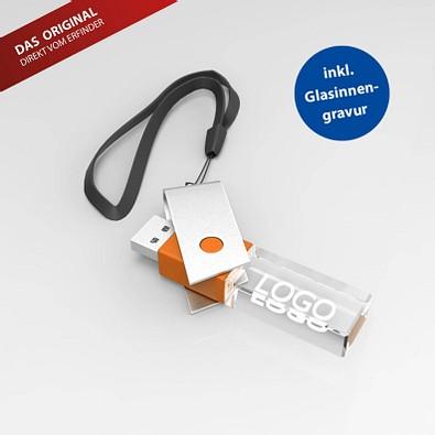 USB-Stick TURN 3D, 8 GB, orange