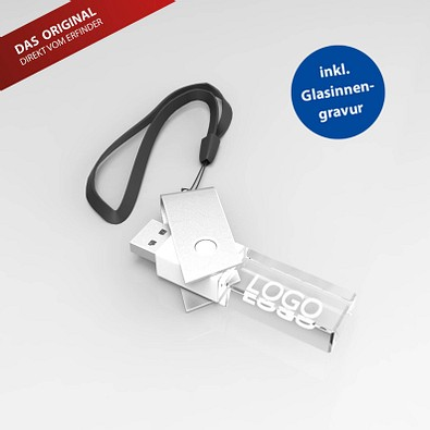 USB-Stick TURN 3D, 8 GB, weiß