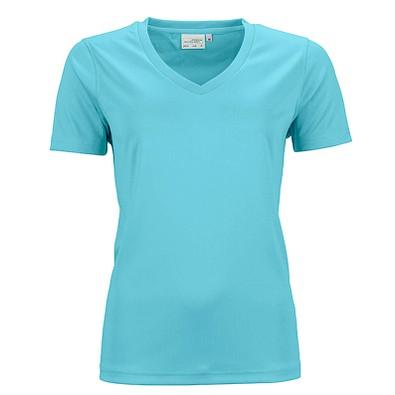 JAMES & NICHOLSON Damen Funktions T-Shirt Active, türkis, S