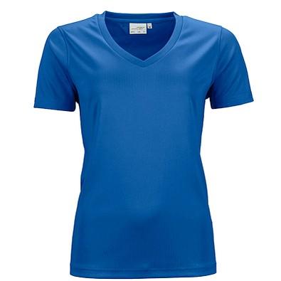 JAMES & NICHOLSON Damen Funktions T-Shirt Active, blau, XL