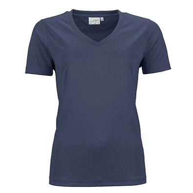 JAMES & NICHOLSON Damen Funktions T-Shirt Active, dunkelblau, S