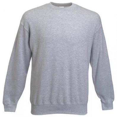 FRUIT OF THE LOOM® Unisex Sweatshirt Set-In, grau/meliert, L