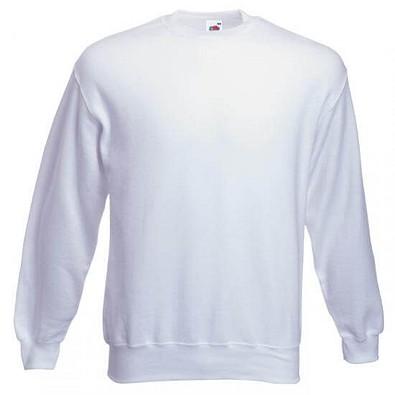 FRUIT OF THE LOOM® Unisex Sweatshirt Set-In, weiß, L