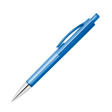 Druckkugelschreiber Jamaika, blaue Mine, blau-transparent