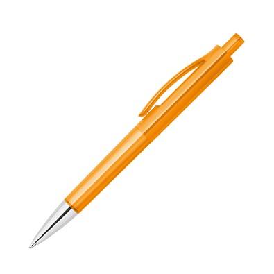 Druckkugelschreiber Jamaika, blaue Mine, orange-transparent