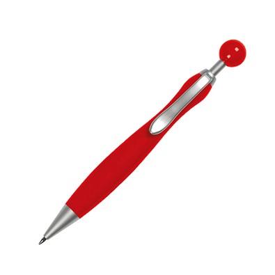 Druckkugelschreiber Lagos, blaue Mine, rot