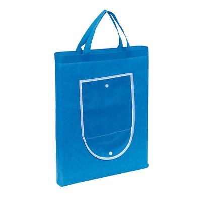 Faltbare Einkaufstasche Colour, Hellblau/Weiß