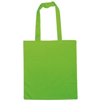 Einkaufstasche Baumwolle, lange Henkel, apfelgrün