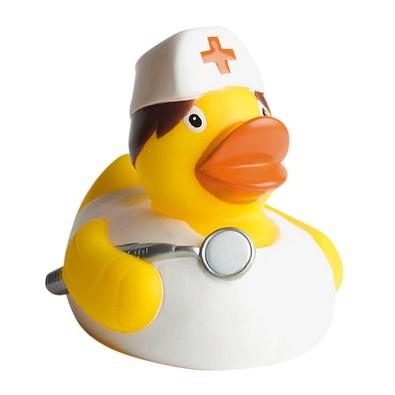 Schnabels® Bade-Ente Krankenschwester, gelb/weiß