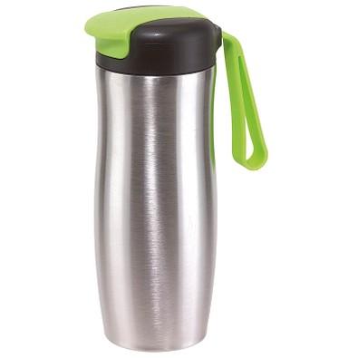 Edelstahl-Isolierbecher Take it, 400 ml, silber/apfelgrün
