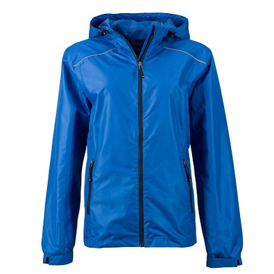 JAMES & NICHOLSON Damen Regenjacke Basic, blau, S