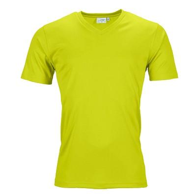 JAMES & NICHOLSON Herren Funktions T-Shirt Active, gelb, L