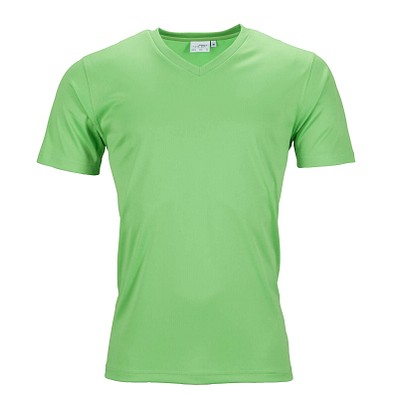 JAMES & NICHOLSON Herren Funktions T-Shirt Active, grün, L