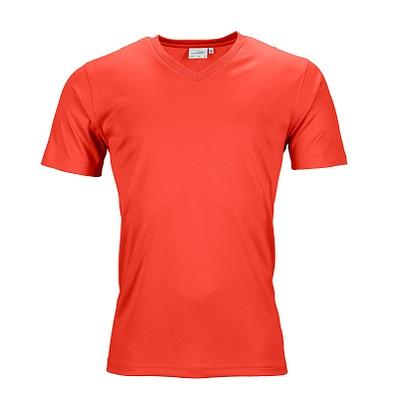 JAMES & NICHOLSON Herren Funktions T-Shirt Active, hellrot, L