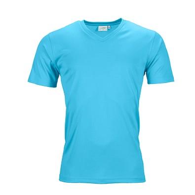 JAMES & NICHOLSON Herren Funktions T-Shirt Active, türkis, L