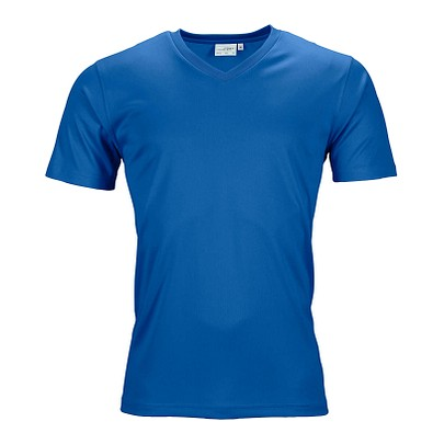 JAMES & NICHOLSON Herren Funktions T-Shirt Active, blau, L