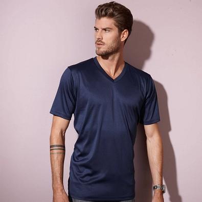 JAMES & NICHOLSON Herren Funktions T-Shirt Active, dunkelblau, L