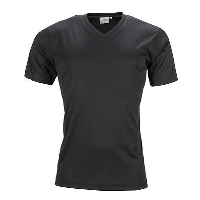 JAMES & NICHOLSON Herren Funktions T-Shirt Active, schwarz, L