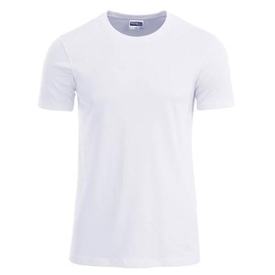 JAMES & NICHOLSON Herren T-Shirt Basic aus Bio-Baumwolle, weiß, L