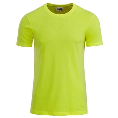 JAMES & NICHOLSON Herren T-Shirt Basic aus Bio-Baumwolle, gelb, XXL