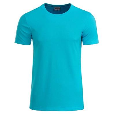 JAMES & NICHOLSON Herren T-Shirt Basic aus Bio-Baumwolle, türkis, XXL