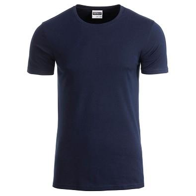 JAMES & NICHOLSON Herren T-Shirt Basic aus Bio-Baumwolle, dunkelblau, XXL