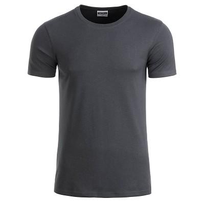 JAMES & NICHOLSON Herren T-Shirt Basic aus Bio-Baumwolle, dunkelgrau, XXL
