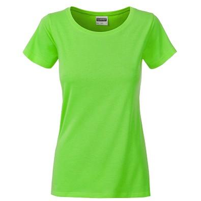 JAMES & NICHOLSON Damen T-Shirt Basic aus Bio-Baumwolle, hellgrün, XS