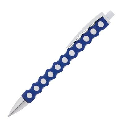 Druckkugelschreiber Nairobi, blaue Mine, blau/weiß