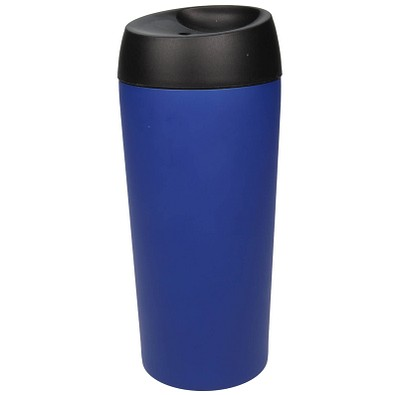 Edelstahl-Isolierbecher Style, 350 ml, blau matt