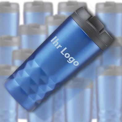 Werbe-Sparset: Thermobecher, 20-tlg., inkl. Gravur, 300 ml, blau