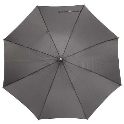 Automatik Windproof Taschenschirm mit farbigem Griff, Dunkelgrau