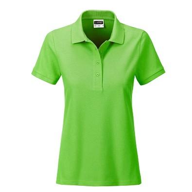 JAMES & NICHOLSON Damen Poloshirt Basic Bio BW, hellgrün, S