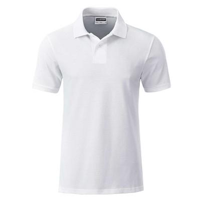 JAMES & NICHOLSON Herren Poloshirt Basic Bio BW, weiß, L