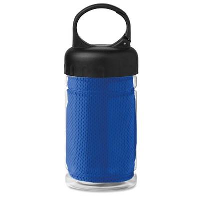 Erfrischungs-Handtuch in der Flasche, Königsblau