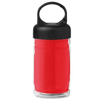 Erfrischungs-Handtuch in der Flasche, Rot