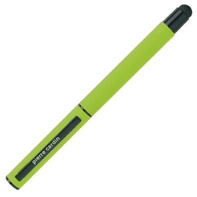 Pierre Cardin Rollerball Touch Pen, blaue Mine, apfelgrün