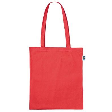 Fairtrade Baumwolltasche Classic, rot, lange Henkel