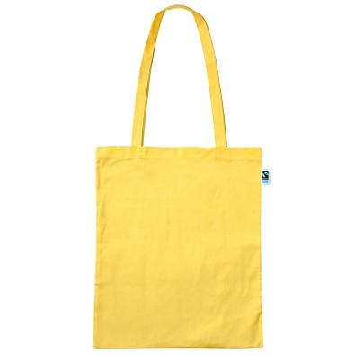 Fairtrade Baumwolltasche Classic, gelb, lange Henkel